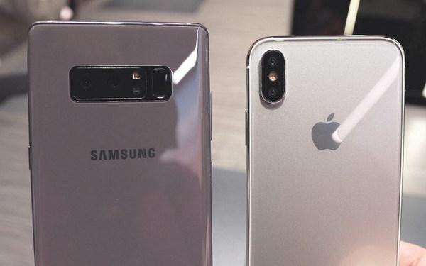 三星Note 8和iPhone 8样机对比!