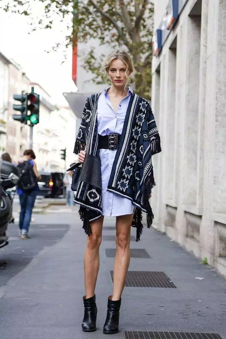裙子+短靴才是初秋最时髦搭配! 13