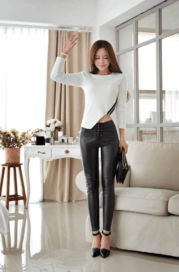 这6款紧身裤气质优雅, 很适合年轻妹子, 更显清爽