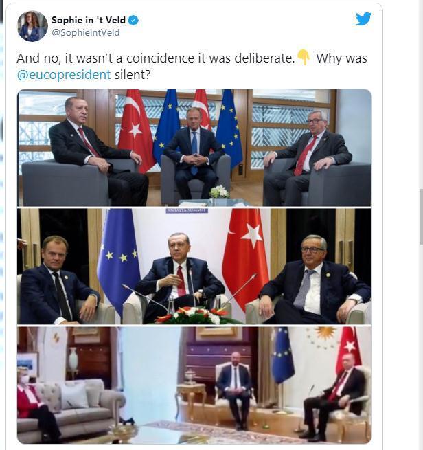 """隻有兩把椅子, 土耳其總統跟歐盟兩位主席該怎麼坐? """"Ehm……""""-圖5"""