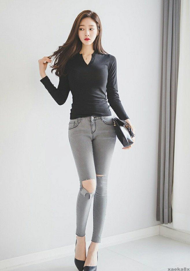 紧身牛仔裤秀出万般风情, 就是这么迷人 5