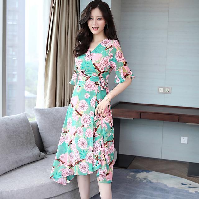 今夏印花连衣裙来袭, 时尚感十足, 尽显女人味 3