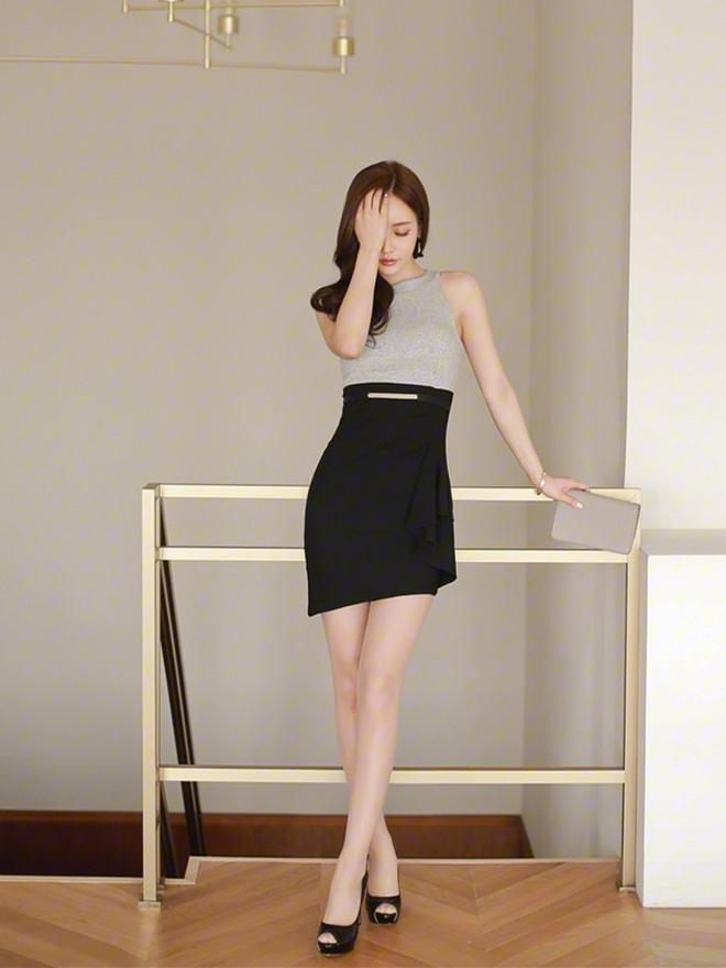 职业短裙被女神这么穿搭, 高端优雅而不是妖艳 5