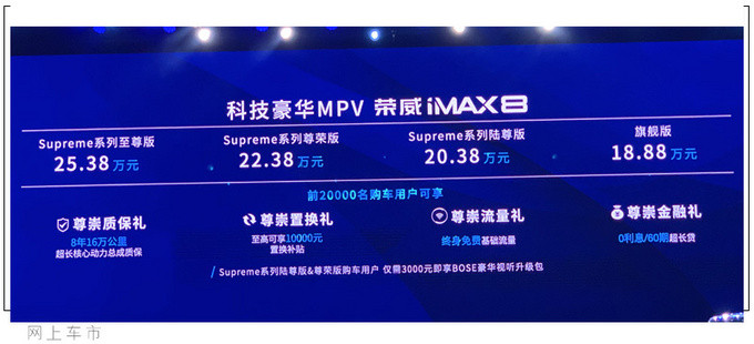 榮威iMAX8高端MPV正式上市! 售價18.88萬元起-圖2
