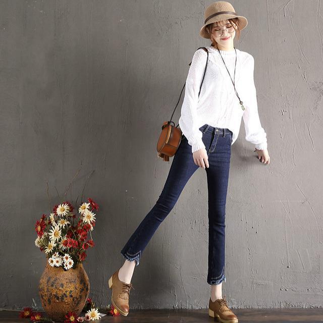 不要再穿老土的牛仔裤了, 今年流行这样的打底裤, 外穿超好看