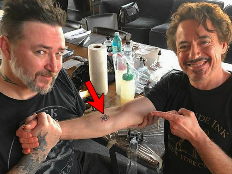 為紀念角色而紋身的漫威演員, 唐尼紋在胳膊上, 荷蘭弟笑死人瞭!-圖1