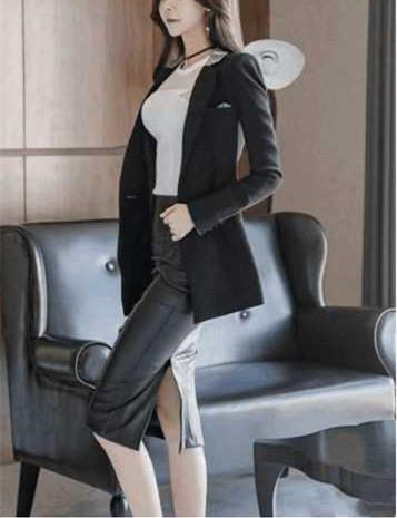 如果办公室的女同事都这么穿, 我觉得加班还是挺幸福的 3