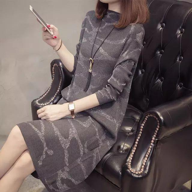 今年冬天再度掀起针织毛衣连衣裙潮流, 真是太美太有气质