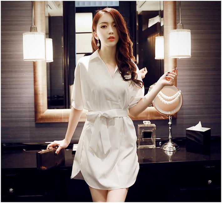 纯色宽松连衣裙夏季行走街头就是要COOL