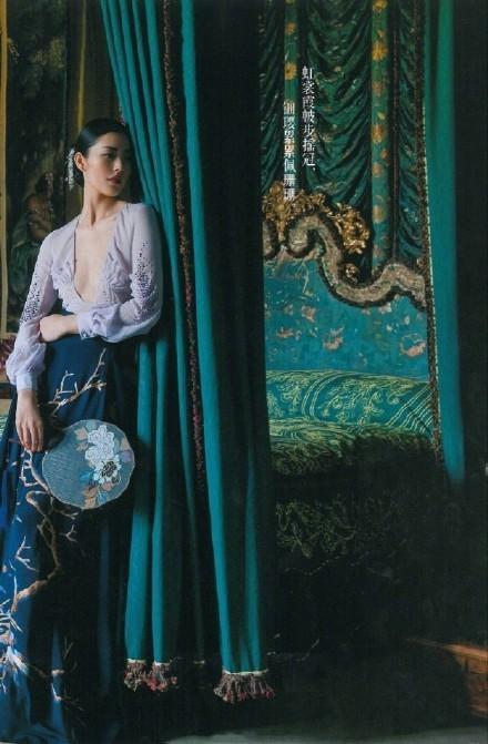 大表姐刘雯中国风时尚大片美炸了, 气质如兰宛若画中人 5