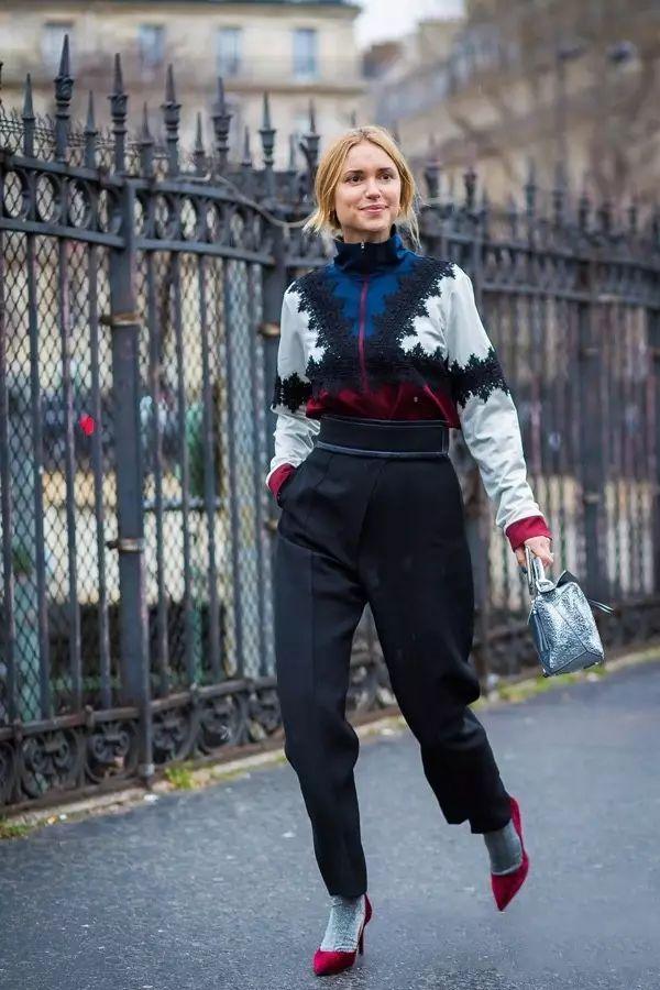 冬天就要像杨幂、Krystal这样露袜子穿! 袜子真的很重要!