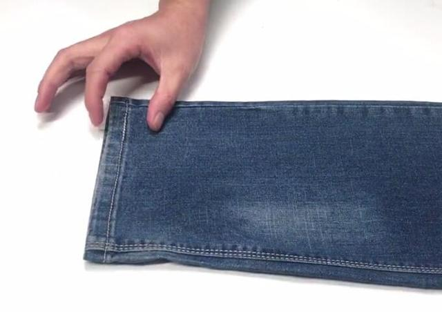 裤腿长了不用剪, 长裤腿巧变短, 网上买裤子再也不怕裤腿长了
