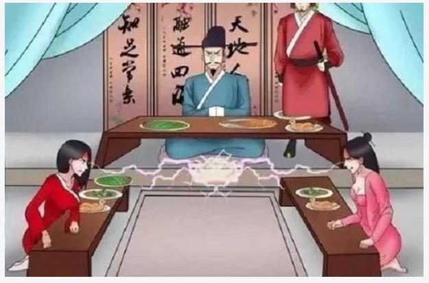 搞笑漫畫: 兩大美女為老杜爭風吃醋, 老杜逆襲, 坐擁兩大美女?-圖1