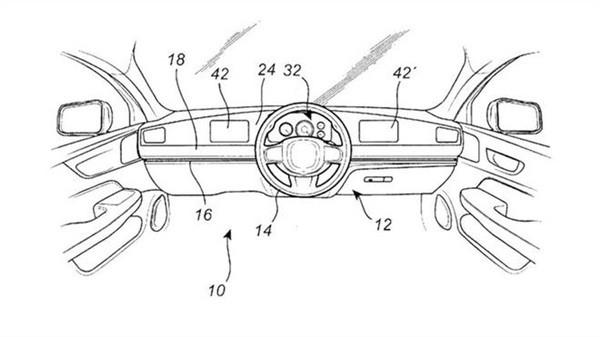 主駕駛和副駕駛輪流開: 沃爾沃申請方向盤切換專利-圖1