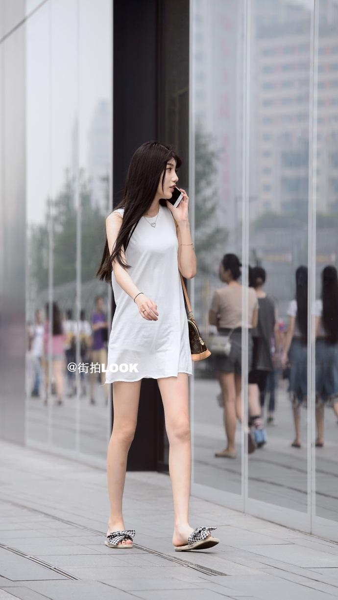 街拍时尚秀: 成都路人街拍, 美若天仙的小姐姐, 气质最重要 6