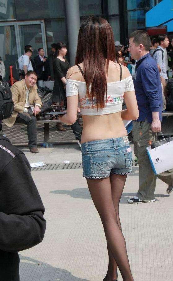 紧身裤青春可爱简约弹力修身牛仔长裤 2