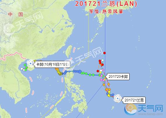 臺風蘭恩最新消息今天 21號臺風長勢良好未來可期16級超強臺風