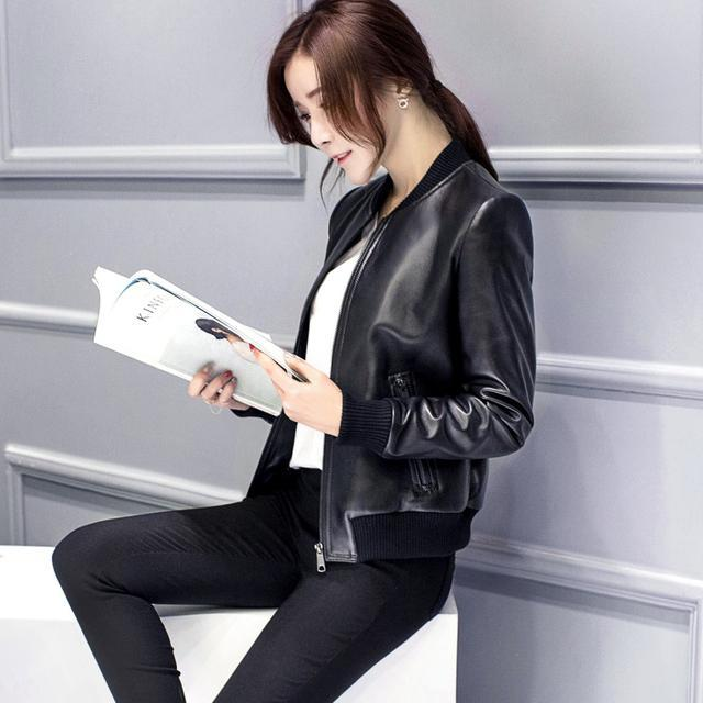 原来今年流行皮衣, 果然穿上干练女人 8