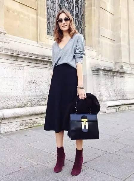 谁说天冷不能穿裙子? 一条半身裙时髦又百搭!