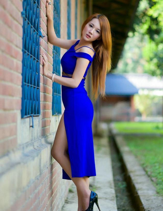 修饰妹子的腿部, 显得纤细修长, 上身大气优雅又时尚有型 4