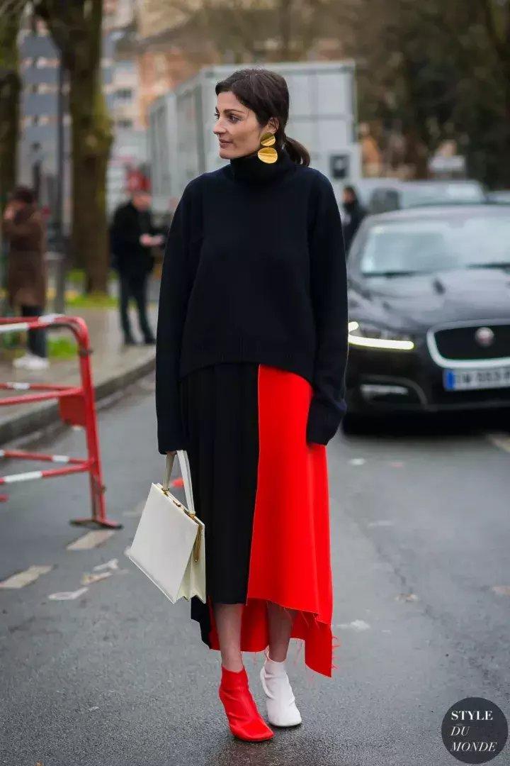 秋冬毛衣+长裙才是绝配, 让你在冬天柔美又飘逸! 8