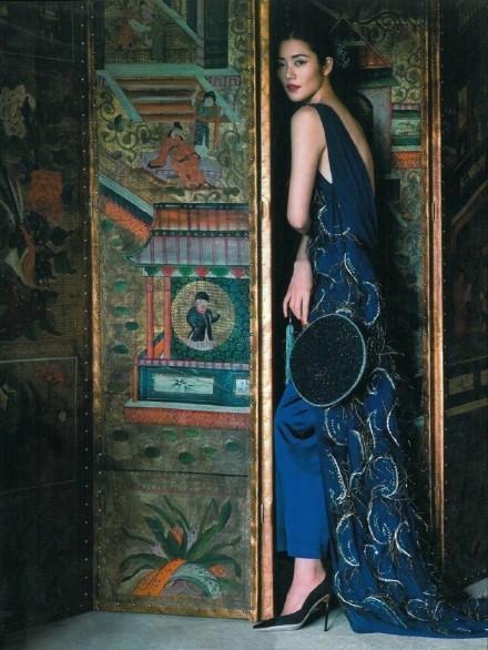 大表姐刘雯中国风时尚大片美炸了, 气质如兰宛若画中人 3