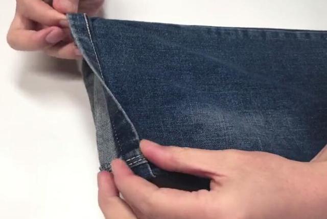 裤腿长了不用剪, 长裤腿巧变短, 网上买裤子再也不怕裤腿长了 6