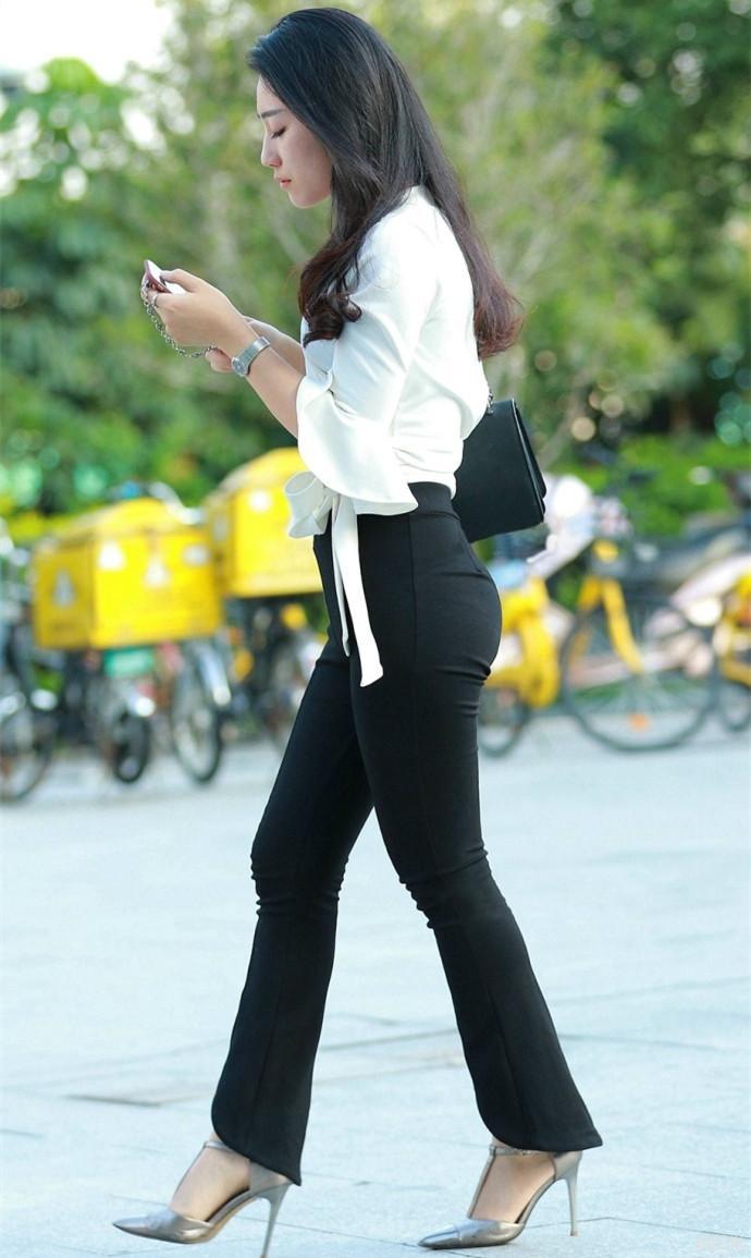紧身裤职业装, 时尚的女秘书更容易得到老板的青睐 4