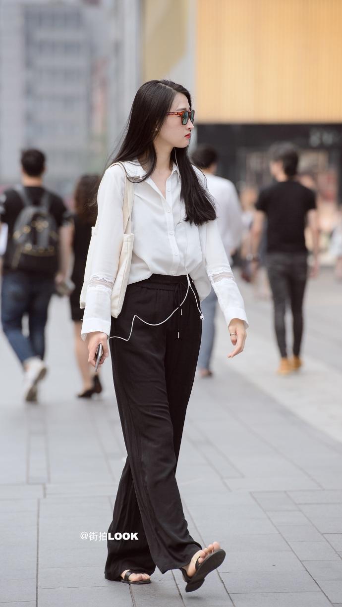 街拍时尚秀: 成都路人街拍, 美若天仙的小姐姐, 气质最重要 8