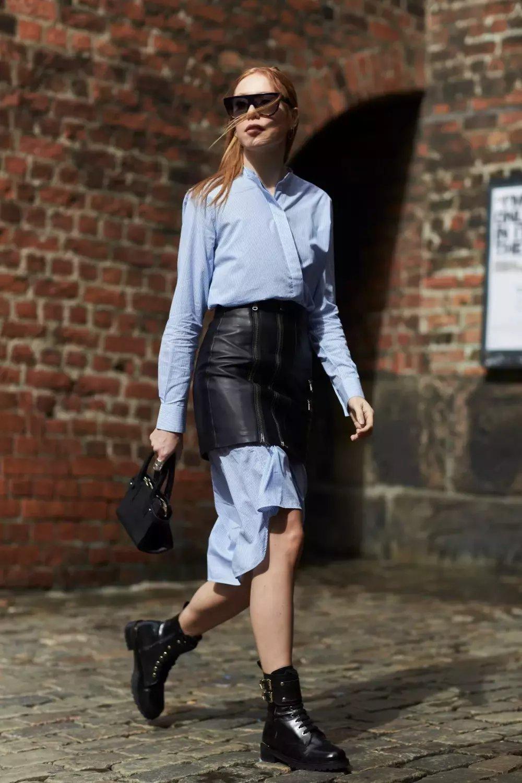 裙子+短靴才是初秋最时髦搭配! 15