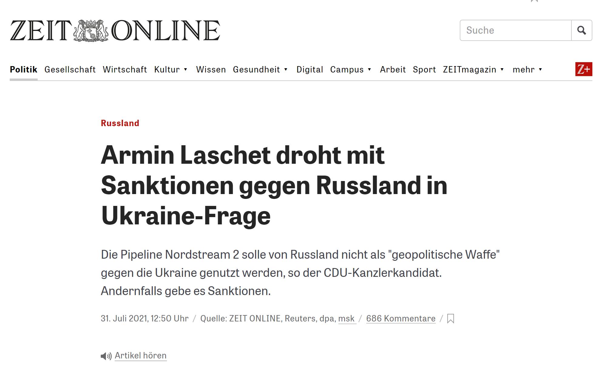 """德國總理候選人公開威脅俄羅斯:如果對烏克蘭實施""""侵略行為"""",將面臨制裁-圖1"""