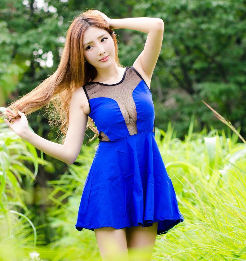 连衣裙迷人的装扮, 成为一道亮丽的风景线 4