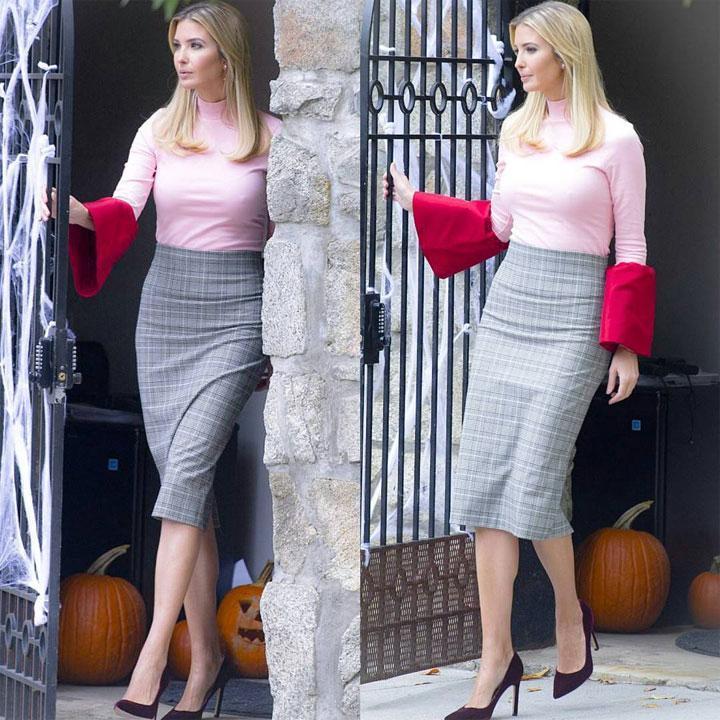 第一女儿伊万卡把平价穿出彩, 第一夫人梅拉尼娅却因奢侈大衣 2