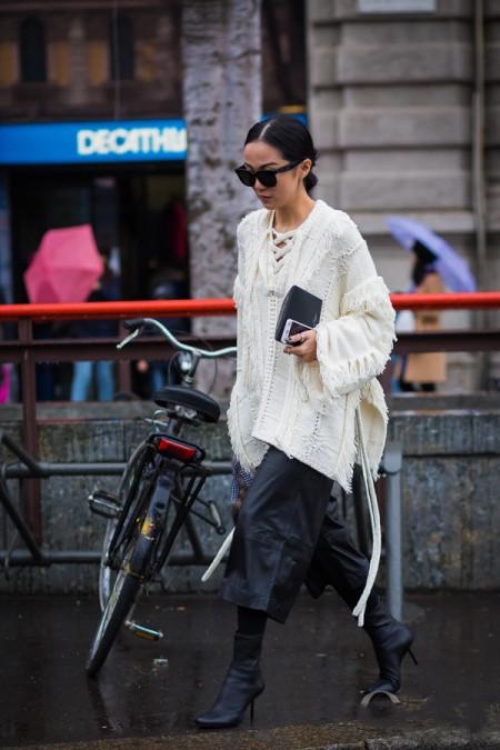 白色毛衣配什么鞋子 7种搭配方法文艺摩登造型随便凹 11