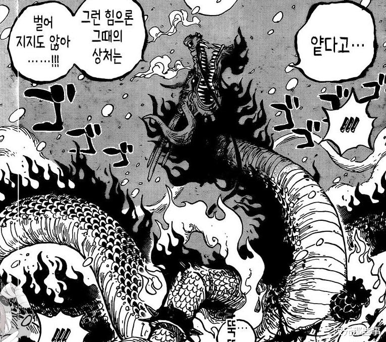 《海賊王》993話, 凱多隨意一擊斬斷小菊手臂, 最強生物恐怖如斯-圖8
