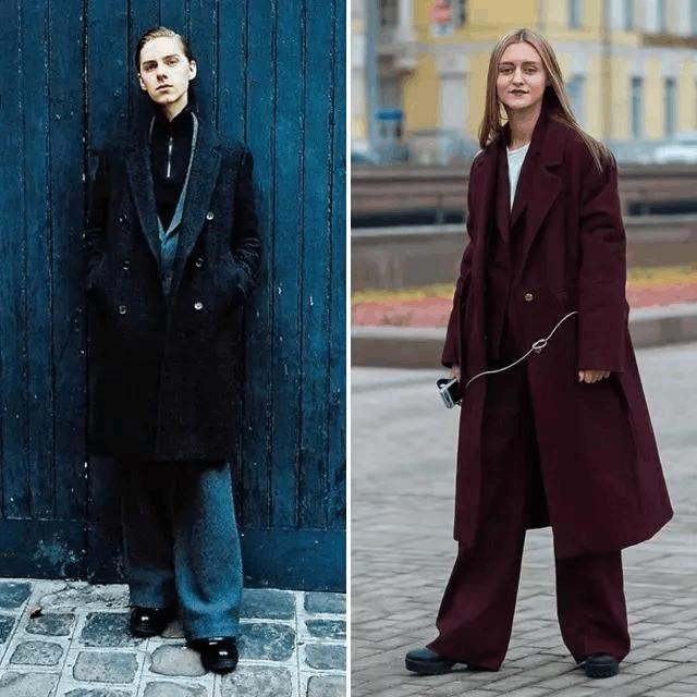 大衣+裤子, 温暖又有范