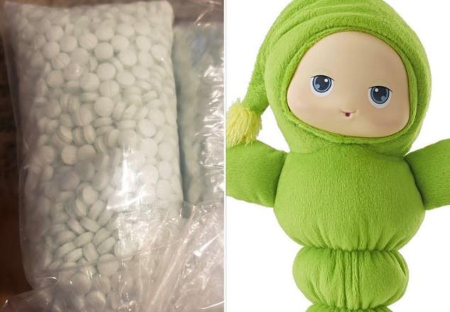 美國父母為孩子買二手玩偶 發現內部藏有5000多片芬太尼-圖1