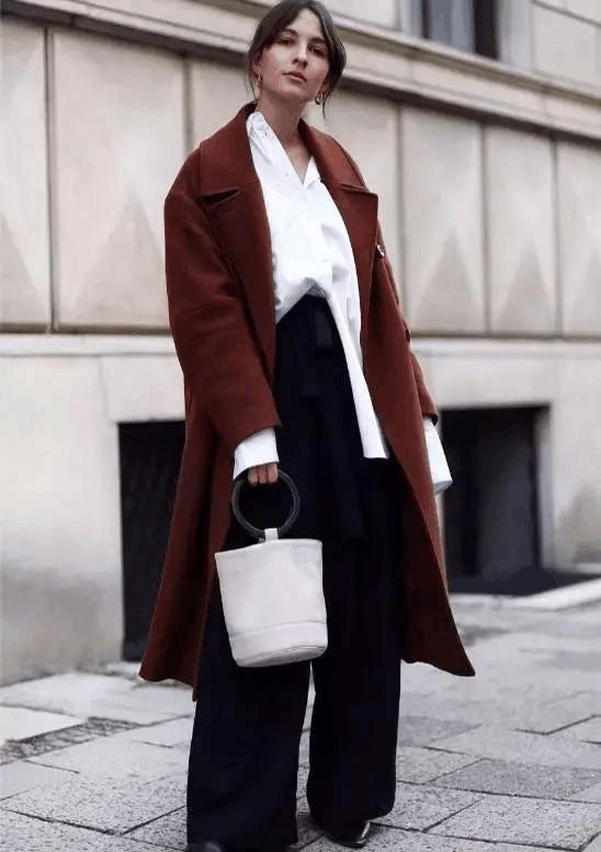 大衣+裤子, 温暖又有范 11