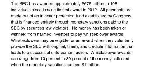 舉報獲7.62億元獎勵! 美國SEC向一人發放天價獎勵 這是舉報瞭啥?-圖5