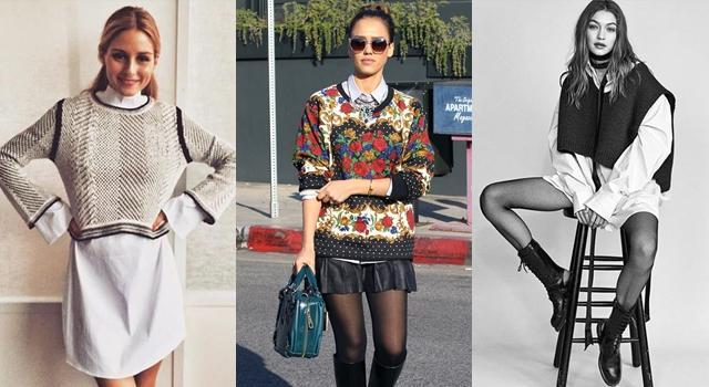 学会毛衣这样穿, 轻松穿出流行感! 让你在秋冬美成一道街景! 6