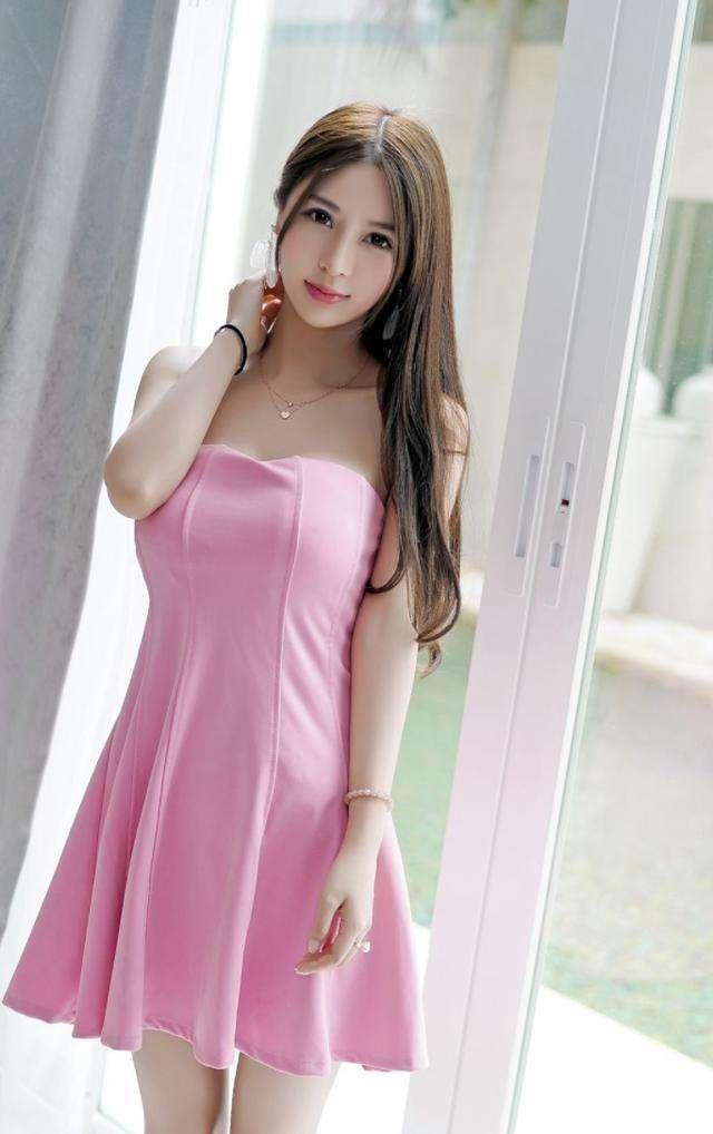 长腿粉色短裙女神, 皮肤白皙 唯美气质 4