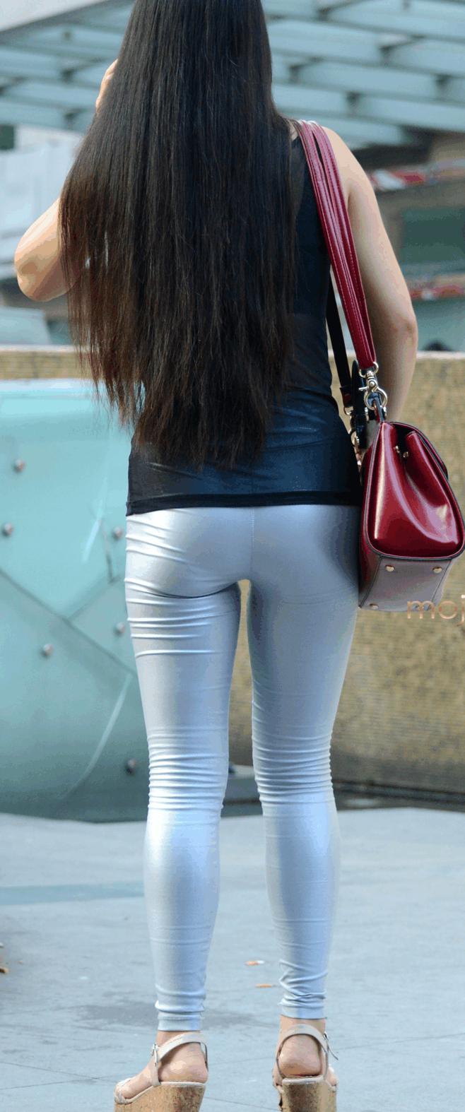 紧身裤甜美干练的优雅, 衬托你的小气场, 平实而素净