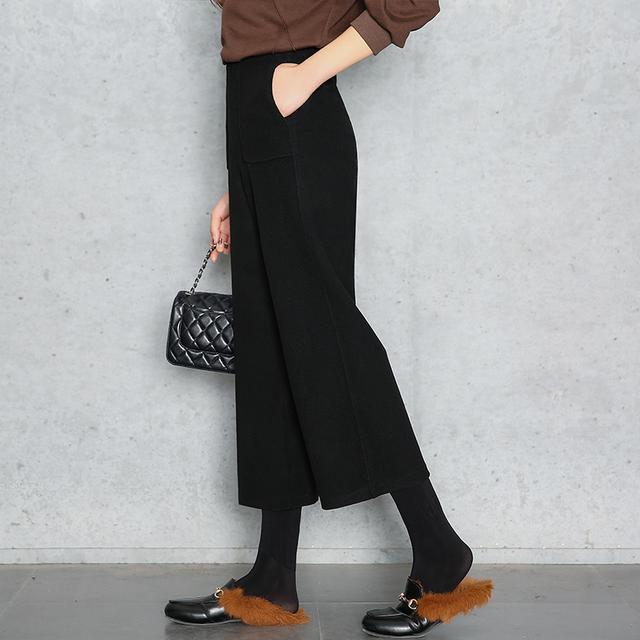 阔腿裤+毛衣, 今年超流行, 冬天再也冻不着