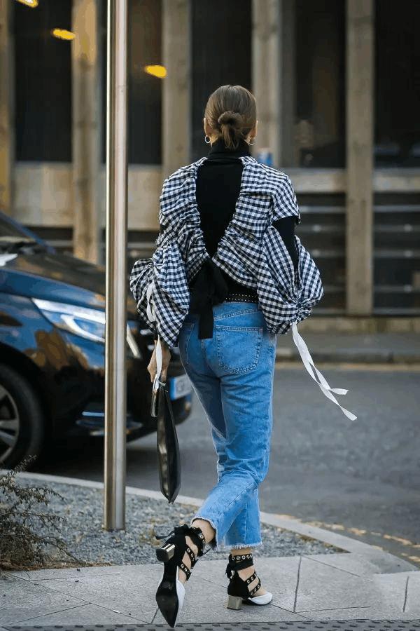 高领毛衣+衬衫, 这种另类时髦你尝试了吗? 12