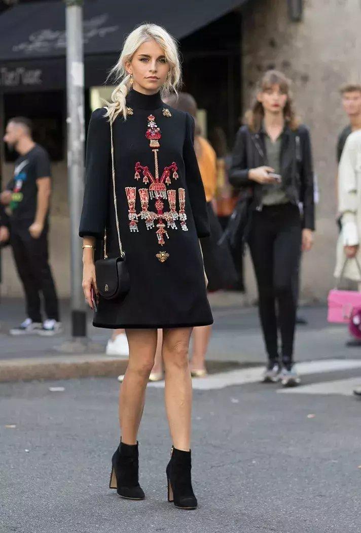 裙子+短靴才是初秋最时髦搭配! 6