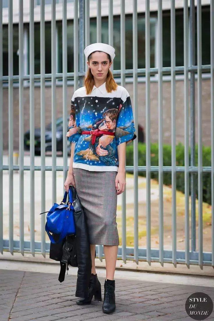 裙子+短靴才是初秋最时髦搭配! 40