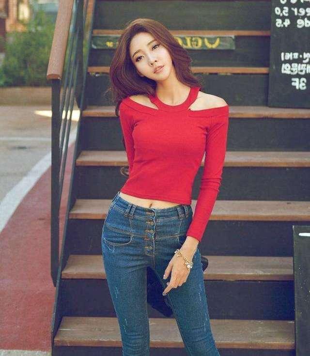 紧身裤时尚优雅的感觉, 穿出美丽风情魅力无限