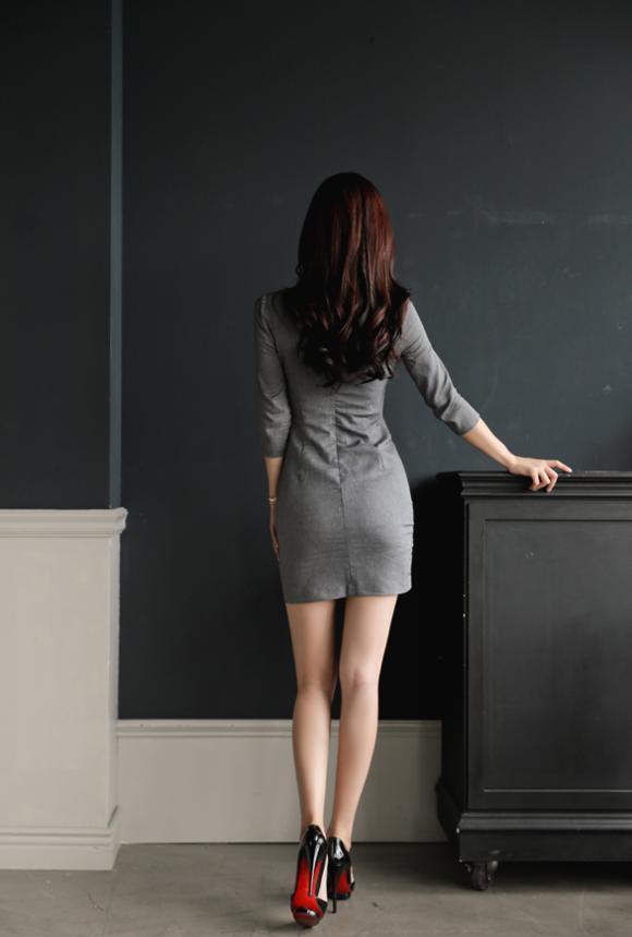 孙允珠高跟鞋时尚调色紧身包臀裙, 姑射神人, 绝色美人 5