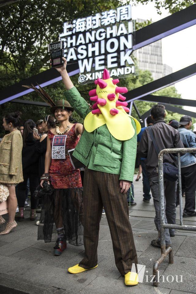 上海时装周的街拍又来刷新三观了 14