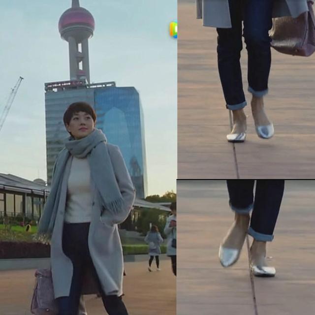 41岁马伊琍现身机场, 打扮得比子君还精致, 脚上的瓢鞋更是好看 4